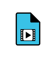 Computer video file icon vector