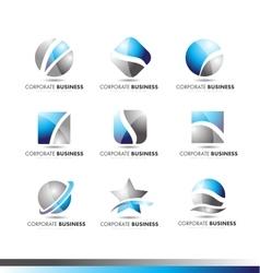 Corporate business logo icon set vector