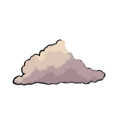 cute cloud forecast web weather white background vector image