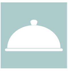 Dish the white color icon vector
