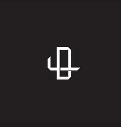 Dl initial letter overlapping interlock logo vector