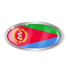 eritrea flag oval button vector image