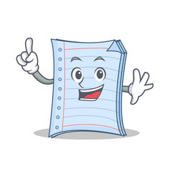 Finger notebook character cartoon design vector