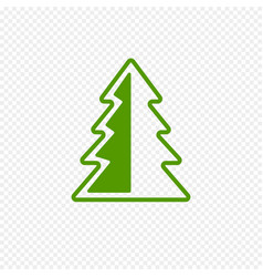 fir tree icon isolated on transparent background vector image