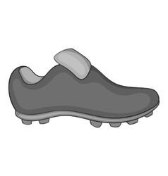 Football boots icon black monochrome style vector