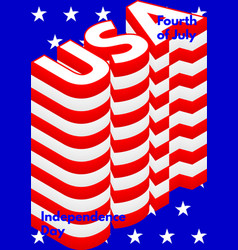 fourth july usa independence day modern poster vector image