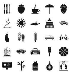 Health icons set simple style vector