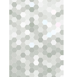 Hexagon halftone background template vector image