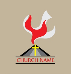 Holyspirit Church logo vector image