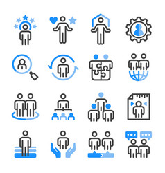 human resource icon set vector image