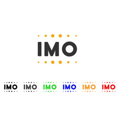 imo caption icon vector image