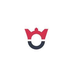 Letter oe logo abstract crown design concept vector