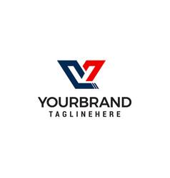 letter v capital logo design concept template vector image