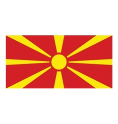 Macedonia flag vector image