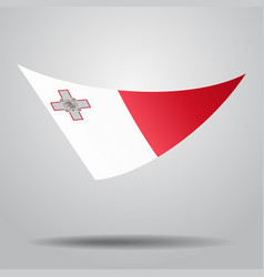 Maltese flag background vector