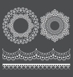 mandala lace pattern and horizontal design vector image