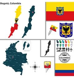 Map of Bogota vector image