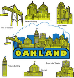 oakland california building and landmarks vector image