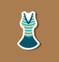 paper sticker fashion clothes summer dress vector image