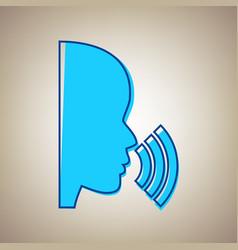 People speaking or singing sign sky blue vector