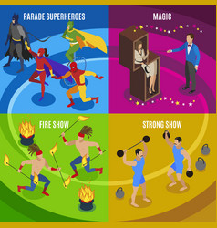 Performers and entertainment concept icons set vector
