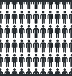 Person icon seamless pattern vector