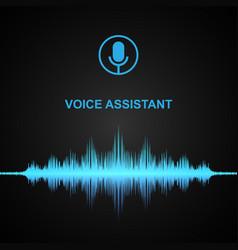 Personal voice assistant soundwave vector