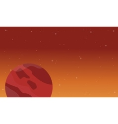 Planet on space landscape vector
