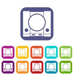 Playstation icons set vector