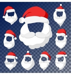 Portrait Santa Claus face cut mask silhouette vector image