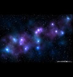 Realistic beautiful nebula vector