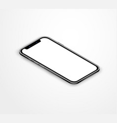 Realistic isometric smartphone mockup isolated on vector