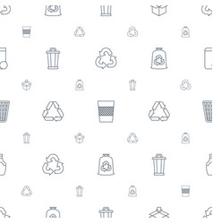 recycle icons pattern seamless white background vector image