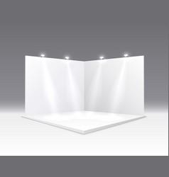 scene show podium for presentations on gray vector image