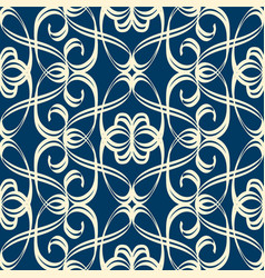 Seamless pattern in baroque style with swirl vector