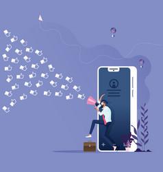 social media marketing concept vector image