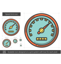 speed limit line icon vector image