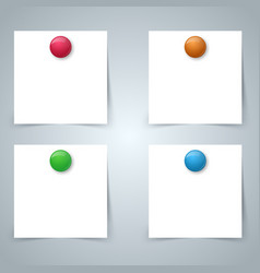 square paper magnet - business infographic four vector image