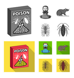 Staff packing with poison and pests monochrome vector