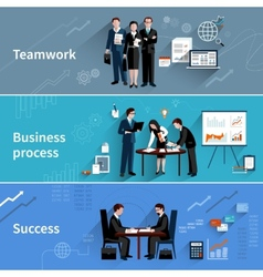 Teamwork Banners Set vector