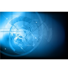 tech background blue dark vector image