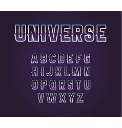 Universe 80s Retro Sci-Fi Font Alphabet Set vector