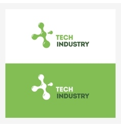 Abstract Technology logo design template vector image