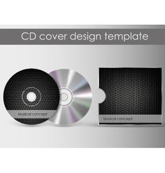 Cd cover presentation design template vector