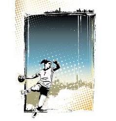 handball poster background vector image vector image