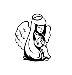 praying angel vector image vector image