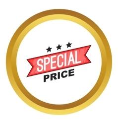 Special price ribbon icon vector image