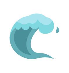 wave icon cartoon style vector image