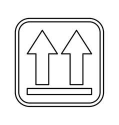 arrows side up icon vector image vector image
