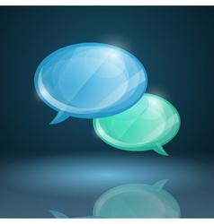 Glossy speech bubbles icon vector image vector image